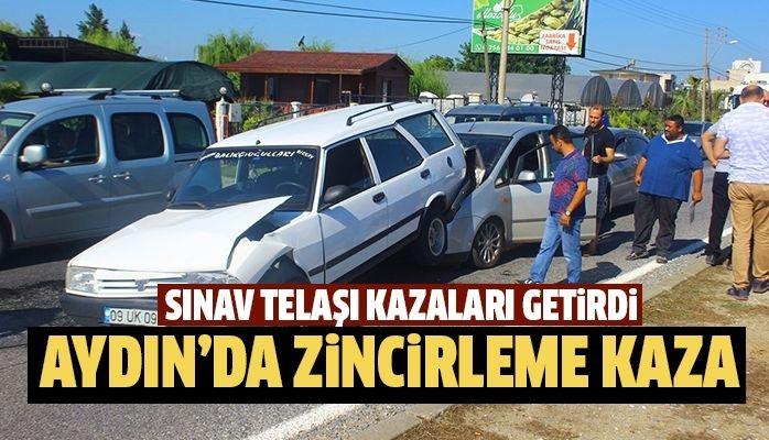 Aydın'da sınav kazaları