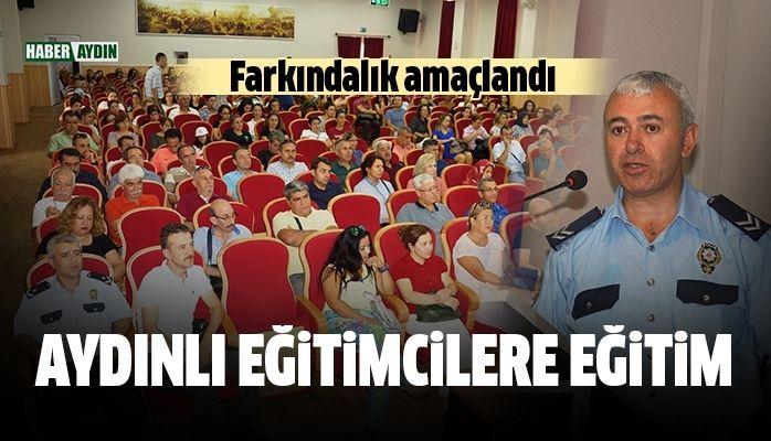 Aydın'da öğretmenlere trafik eğitimi verildi
