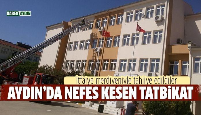 Aydın Polis Okulu'nda tatbikat yapıldı
