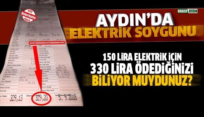 Aydın'da elektrik vurgunu