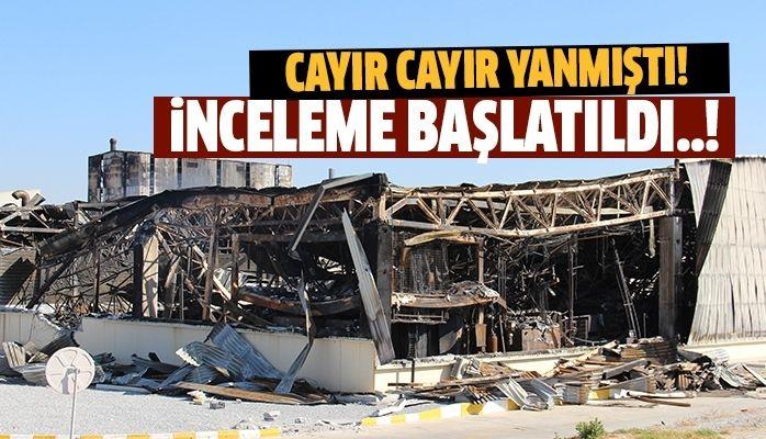 Ortaklar OSB'deki fabrika yangınıyla ilgili inceleme başlatıldı