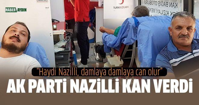 Nazillili AK Partililerden Kızılay'a kan desteği