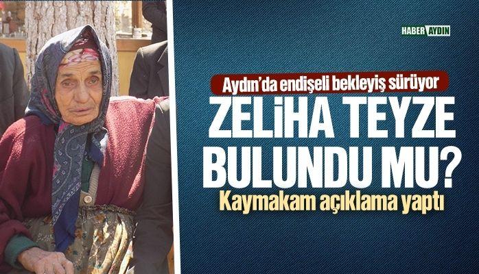 Aydın'da endişeli bekleyiş sürüyor.. Zeliha nine bulundu mu?
