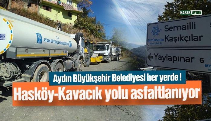 Hasköy-Kavacık yolu yapılıyor