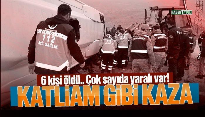 Katliam gibi kaza.. 6 kişi hayatını kaybetti!