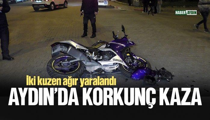 Aydın'da korkunç kaza.. İki kuzen ağır yaralandı