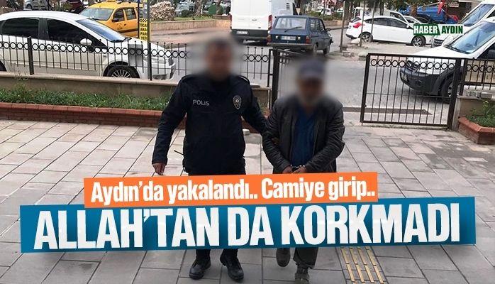 Aydın'da yakalandı.. Camiye girip…
