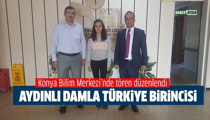 Aydınlı Damla Türkiye birincisi oldu