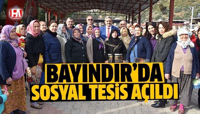 Başkan Alıcık, Bayındır'a sosyal tesis kazandırdı