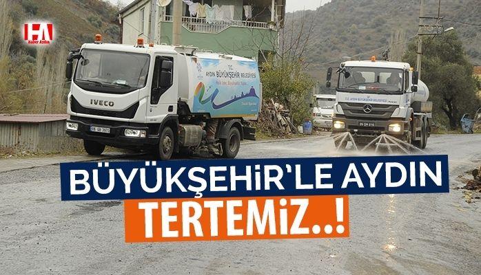 Büyükşehir'in temizlik çalışmaları devam ediyor