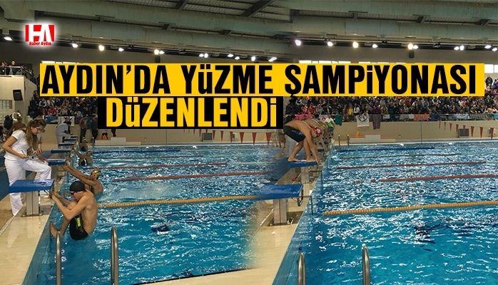 Aydın'da yüzme şampiyonası düzenlendi