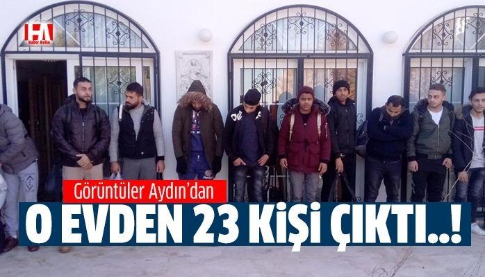 Aydın'da operasyon..! O evden 23 kişi çıktı