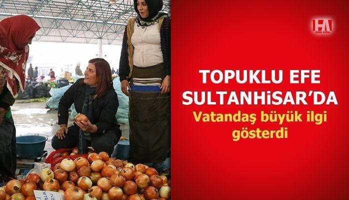 Başkan Çerçioğlu Sultanhisar Pazarı'nı Ziyaret Etti