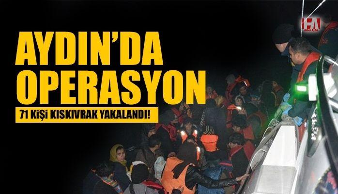 Aydın'da operasyon.. 71 kişi yakalandı.!