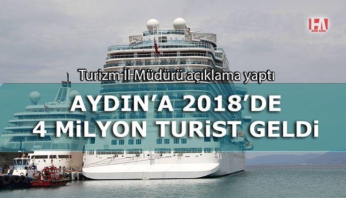 Aydın'a 2018'de 4 milyon turist geldi