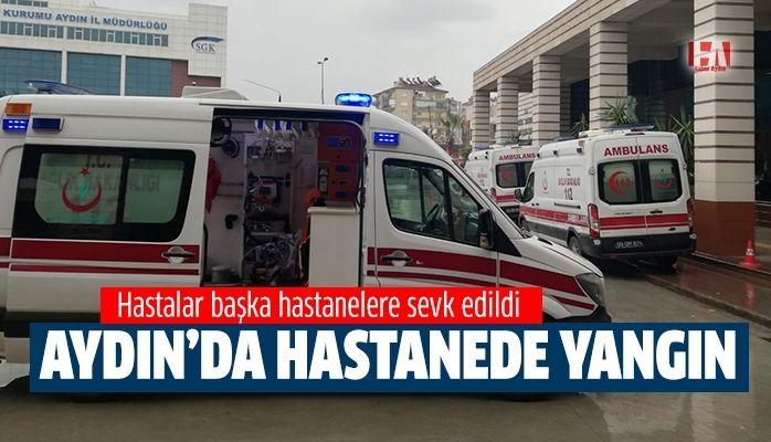 Aydın'da hastanede trafo yangını