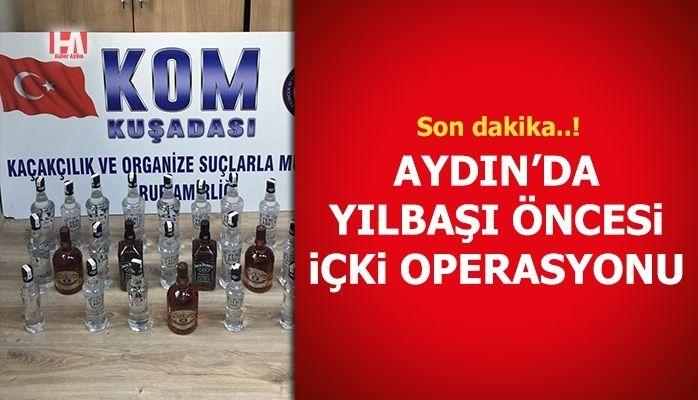 Aydın'da yılbaşı öncesi içki operasyonu