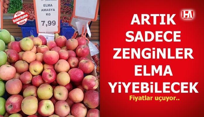 Elma fiyatları uçtu