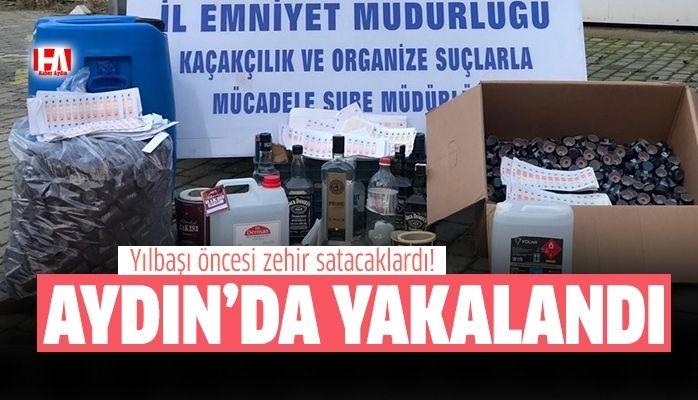 Aydın'da kaçak içki operasyonu.. Aman dikkat!