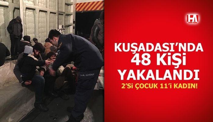 Kuşadası'nda 48 kişi yakalandı