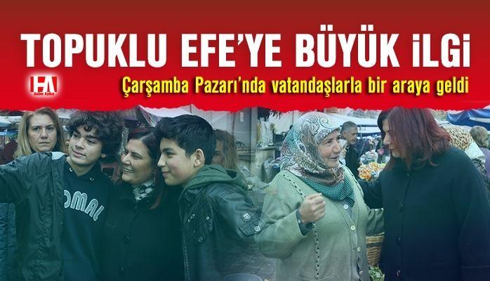 Başkan Çerçioğlu Çarşamba Pazarı'nda Vatandaşlarla Bir Araya Geldi