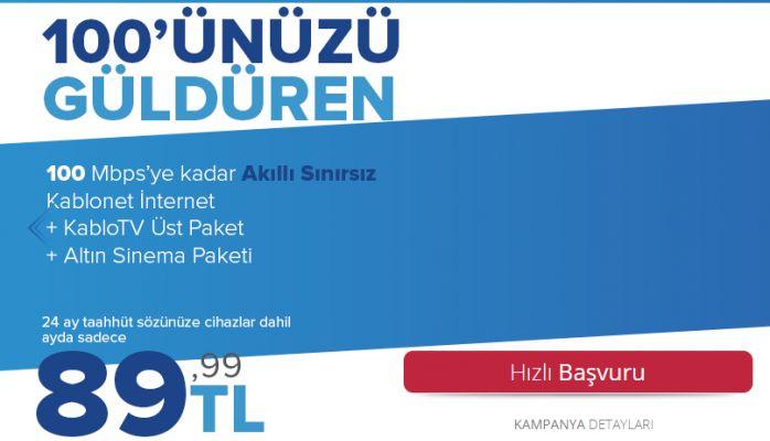 Evde Tv ve İnternet Bir Arada Kampanyası Kablo Tv'de