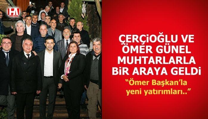 Başkan Çerçioğlu ve Ömer Günel Kuşadalı Muhtarlarla Buluştu