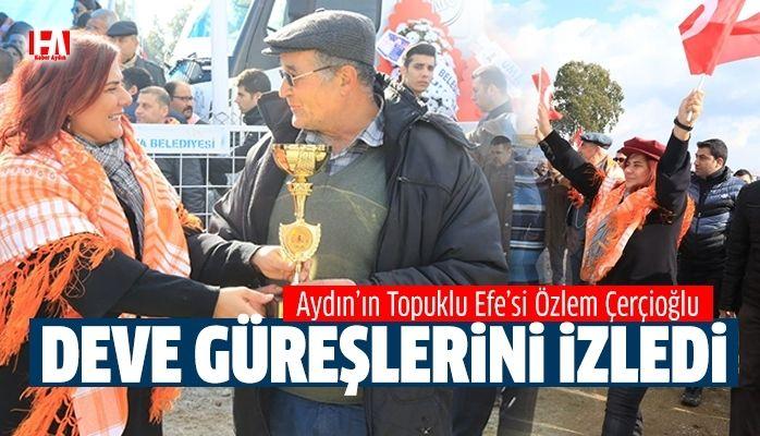 Başkan Çerçioğlu İncirliova Deve Güreşleri'ni İzledi