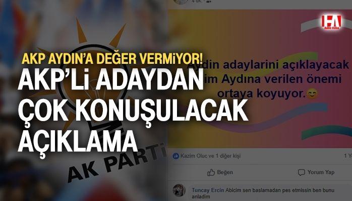 AKP'li adaydan çok konuşulacak açıklama