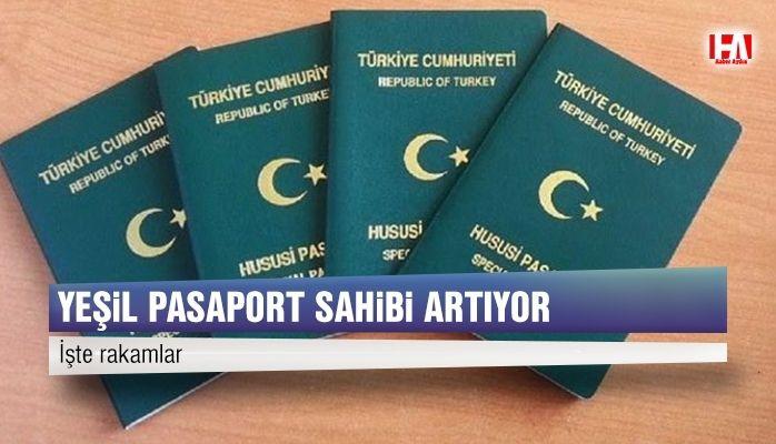 Yeşil pasaport sahibi sayısında artış
