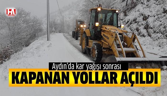Aydın'da kar yağışı etkili oldu