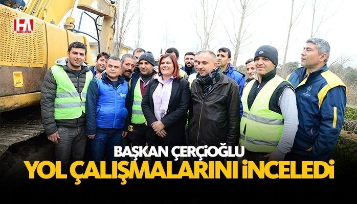 Başkan Çerçioğlu Yol Çalışmalarını Yerinde İnceledi