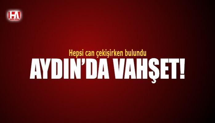 Aydın'da vahşet..! Hepsi can çekişirken bulundu