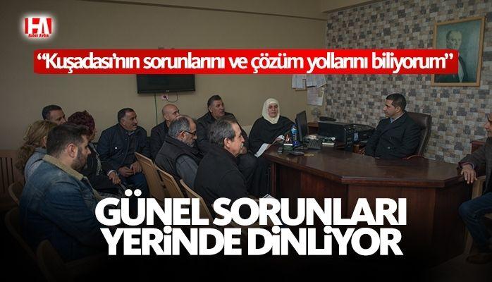 CHP Kuşadası Belediye Başkan Adayı Ömer Günel Ev Ziyaretlerine Devam Ediyor