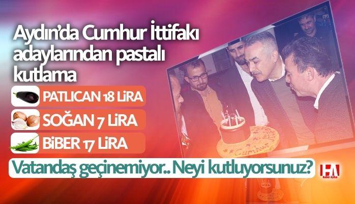 Cumhur İttifakı adaylarından pastalı kutlama