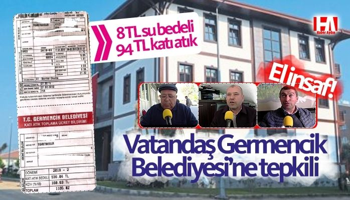 Vatandaş Germencik Belediyesi'ne tepkili