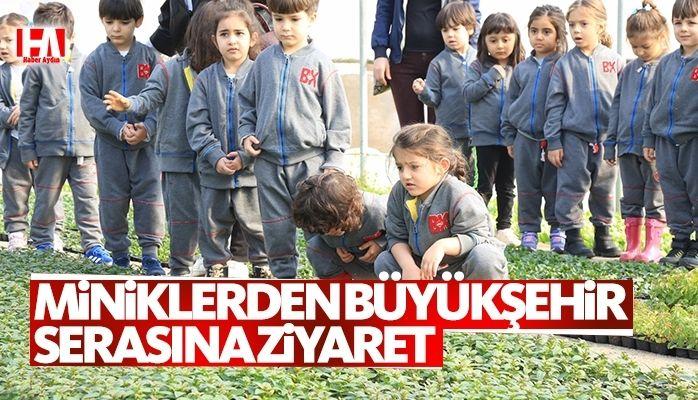 Çocuklar Büyükşehir serasını ziyaret etti