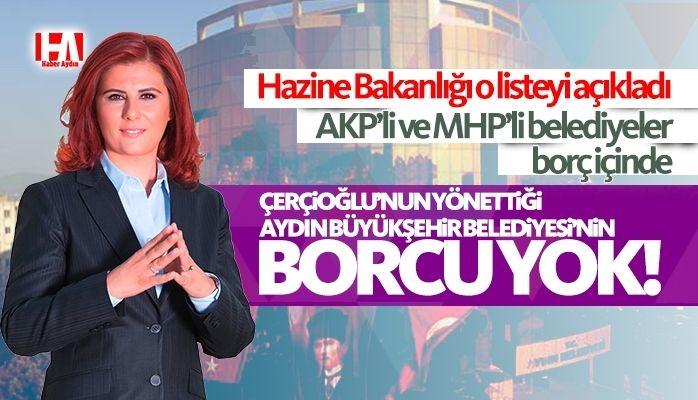 AKP'li ve MHP'li belediyeler borç içinde.. En borçsuz Aydın Büyükşehir Belediyesi!