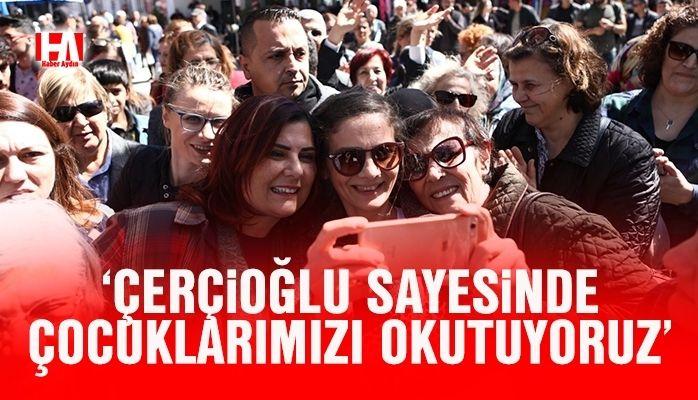 Vatandaşlardan Çerçioğlu'na büyük ilgi
