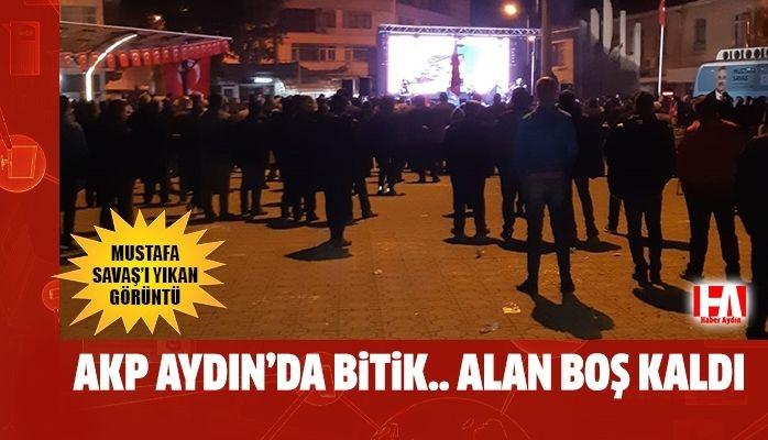 Aydın'da seçim bitti.. Miting alanı boş kaldı
