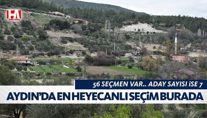 Aydın'da kıran kırana mücadele.. 56 seçmen 7 aday!