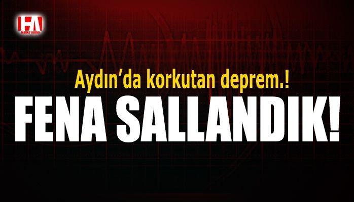 Aydın'da deprem..!