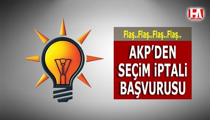 AKP seçimlerin iptali için başvuru yaptı