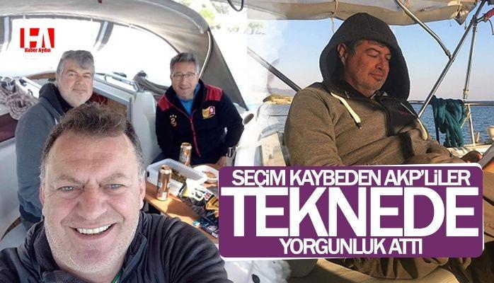 AKP'lilerden seçim sonrası tekne sefası