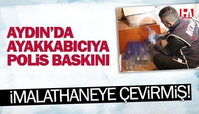 Aydın'da ayakkabıcıya polis baskını