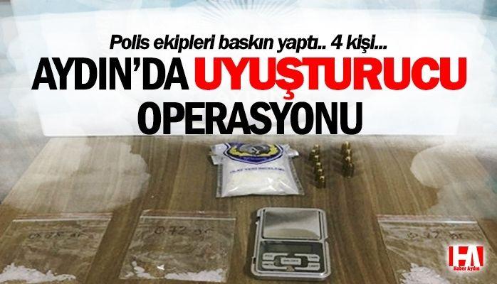 Aydın'da uyuşturucu operasyonu.. Polis baskın yaptı!