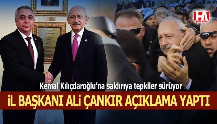 CHP Aydın İl Başkanı Ali Çankır saldırıyla ilgili açıklama yaptı
