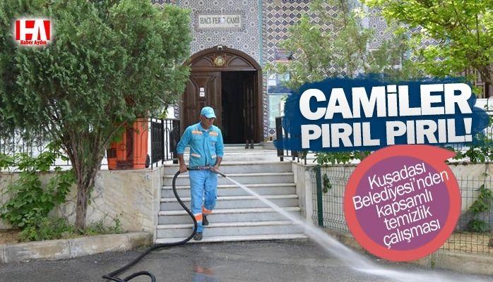 Kuşadası Belediyesi'nden camilerde kapsamlı temizlik çalışması