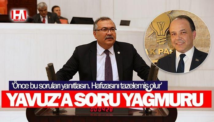 CHP'li Bülbül Metin Yavuz'u soru yağmuru tuttu