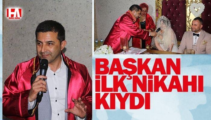 Başkan ilk nikahı kıydı